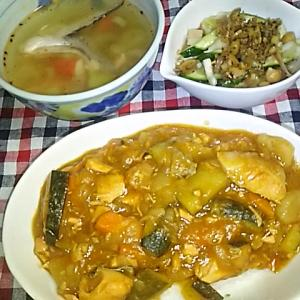 食事日記  鮭カレー。