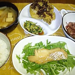 食事日記  タラのマヨソテー。