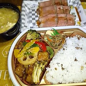 食事日記 さんまの黒酢あん弁当レシピ