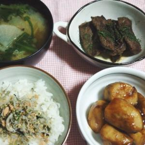 食事日記  さといもの味噌煮。