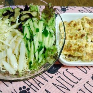 食事日記  冷やし中華。