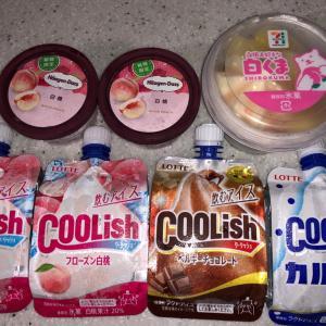 桃のアイス (*´ч`*)