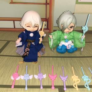 【マジカルステッキピックス】と【わんぱく刀剣乱舞】のランチボックス