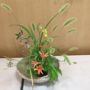 8月草心流生け花教室!