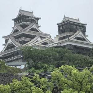 雨の中の熊本城!
