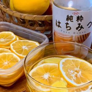 蜂蜜レモンとワッフル