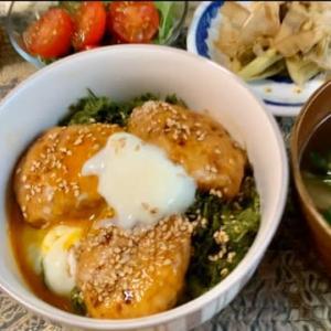 【今日のランチ】鶏つくね丼