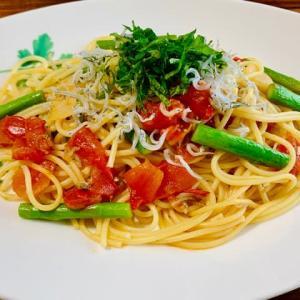 しらすと完熟トマトのパスタ
