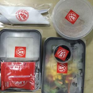 コロナウイルスのせいで、タイは、まだしばらくは、お弁当生活がつづきそうです。