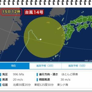 台風の影響は今は無し!