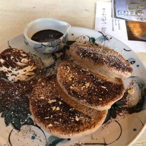 さとやまカフェ パンケーキ、明太子オムライス、和風オムライス