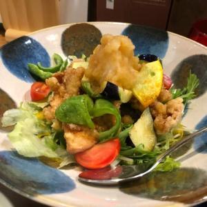 月夜野 野菜と鶏唐おろしポン酢、デミコロバーグ