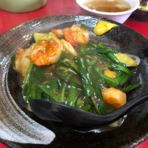 みんらい ニラ海老丼、肉丼、豚の天ぷら