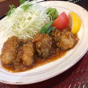 大戸屋 牡蠣の醤油炒め、ポテタル鶏竜田のサラダ定食、チキン母さん煮定食