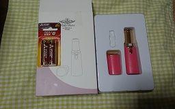 かわいい!ピンクの口紅型 レディースシェーバー