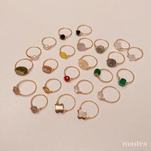 天然石のリング