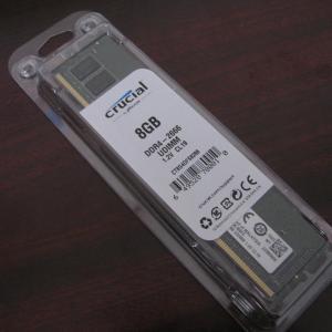 レノボ Legion(レギオン) T530のメモリを8GBから16GBに増設してみたんだ【デスクトップパソコン】Crucial(Micron製) デスクトップPC用メモリ PC4-21300(DDR4-2666)8GBを1枚追加