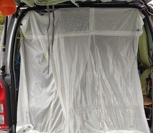 ハイエースの蚊帳の製作 (バックドア用)