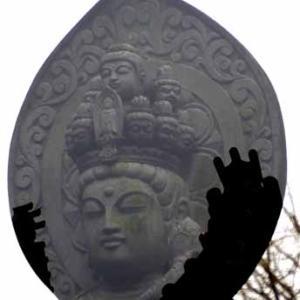 浄牧院の石仏(1月26日 寫壇太陽撮影会)