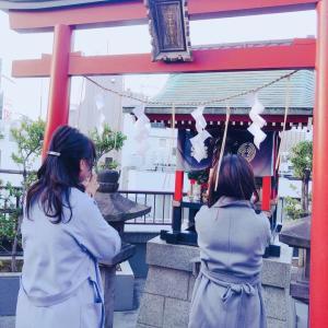 映画「天気の子」に出て来た❤空に手が届きそうな朝日稲荷神社