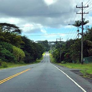 2019ハワイ旅 - 2018年の噴火溶岩流で寸断された道