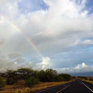2019ハワイ旅 - ハヴィからワイコロア 虹とサンセットのドライブ
