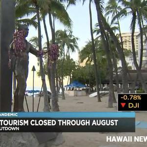 JTBはハワイツアーの8月31日出発分までの中止を決定しました。