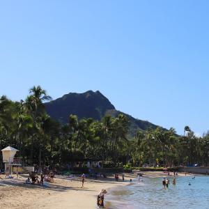 2019ハワイ旅 - ワイキキ のクヒオビーチでぐるっと動画撮影 DJI OSMO POCKETは良いぞ