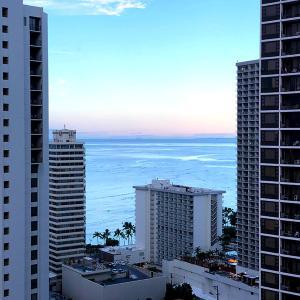 2020.3ハワイ旅 - ロックダウンの10日ほど前 ワイキキの朝です