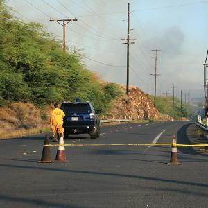 ハワイ島で山火事が発生! ワイメア、ワイコロアが大変な状態です。