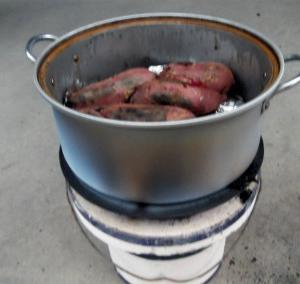 焼き芋作り