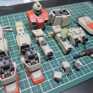 陸戦型ジム、塗装2