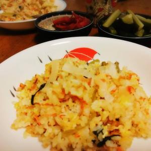 発酵小松菜でチャーハン