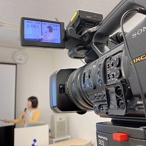 福岡で、資産運用セミナーの撮影