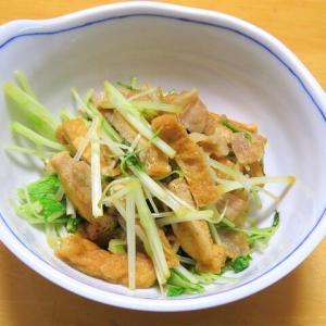 水菜と豚肉の炒め物