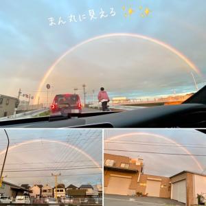 虹を観た!釣りに/大阪府T様チャンス君8才のお誕生日愛犬用ケーキ/トイプーのプップちゃんワンバナ