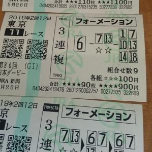 「日本ダービー(G1)この馬券に笑う!'19」の巻