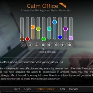 テレワーク向け、オフィスの環境音のジェネレータ「Calm Office」を使ってみた