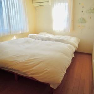寝室と新しいまくら