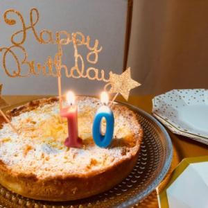 おうちでささやかに長女10歳誕生日パーティー♪