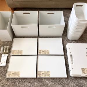 【無印】大人買い!L字型キッチンに防災グッズの収納!