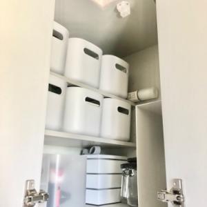 【無印】L字型キッチン上戸棚を整えた
