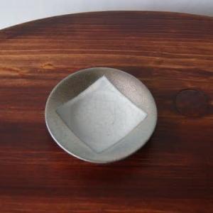 紫窯変貫入掛け分け豆皿