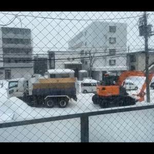 札幌は雪がたくさん積もってる☆