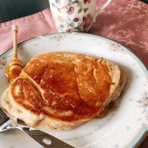 朝食はホットケーキ❤️結婚式では雅楽演奏♬