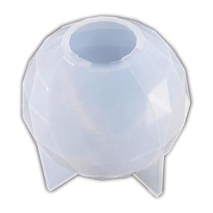 シリコン型 ボール 多面体 球体 完成品の直径約7cmの使用レポート
