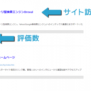 ディレクトリ型検索のカテゴリ内サイト表示順を変更