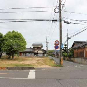 市道成松~山川線の十字路