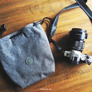 250バーツで普通のバックパックをカメラバッグ化!ミラーレスカメラ用クッションポーチ。