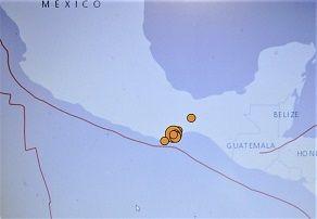 *メキシコでM7.5の大きな地震発生。 4人死亡、余震400回超。